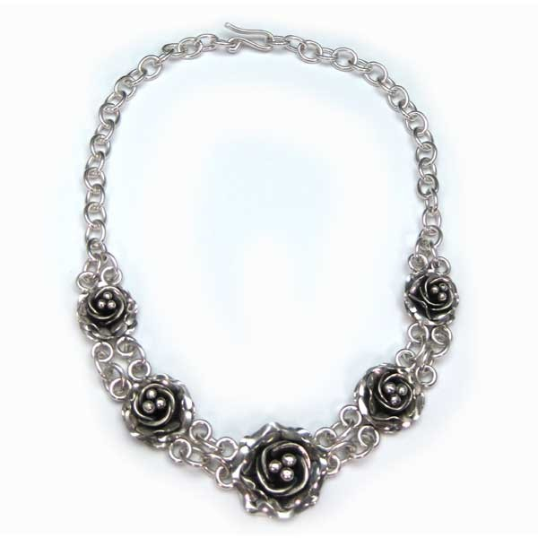 Silver Rose Necklace (ART-NC-001)