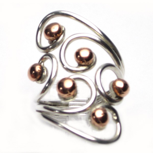 HPSilver: Sterling Silver w/ Copper Wire Ring (fel-rg-0024)