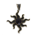 "Sterling Silver w/ Amethyst and Brass ""Sun"" Pendant (ANG-PN-103) Compass"