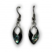 HPSilver : Silver Plated Abalone w/ Enamel Earrings