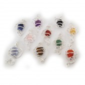 HPSilver : Gemstone Art Pendant 100 Pack