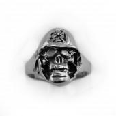 HPSilver, LLC : Sterling Silver Skull Ring cha-rg-113