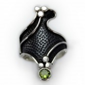"HPSilver: Peridot w/ Sterling Silver ""Dragon"" Ring (elf-rg-036)"