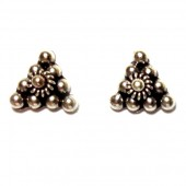HPSilver: Silver Stud Earrings (emm-er-021)