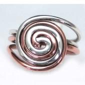 HPSilver: Sterling Silver w/ Copper Wire Ring (fel-rg-0001)