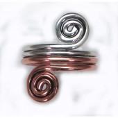 HPSilver: Sterling Silver w/ Copper Wire Ring (fel-rg-0002)