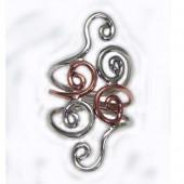 HPSilver: Sterling Silver w/ Copper Wire Ring (fel-rg-001)