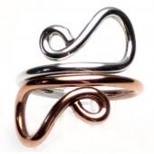HPSilver: Sterling Silver w/ Copper Wire Ring (fel-rg-0013)