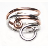 HPSilver: Sterling Silver w/ Copper Wire Ring (fel-rg-0014)