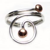 HPSilver: Sterling Silver w/ Copper Wire Ring (fel-rg-0017)