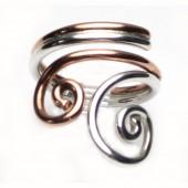 HPSilver: Sterling Silver w/ Copper Wire Ring (fel-rg-0019)