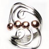HPSilver: Sterling Silver w/ Copper Wire Ring (fel-rg-0023)