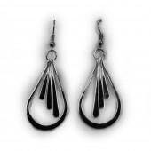 HPSilver, LLC : Silver Plated, Hand Hammered Earrings lor-er-045