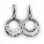 HPSilver, LLC : Silver Plated, Hand Hammered Earrings lor-er-046