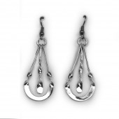 HPSilver, LLC : Silver Plated, Hand Hammered Earrings lor-er-048