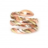 HPSilver, LLC : Copper & Brass Snake Ring