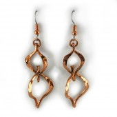 HPSilver: Hammered Copper Earrings (lor-er-001)