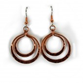 HPSilver: Hammered Copper Earrings (lor-er-003)