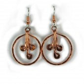 HPSilver: Hammered Copper Earrings (lor-er-004)