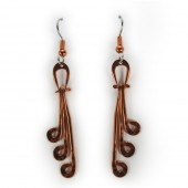 HPSilver: Hammered Copper Earrings (lor-er-007)