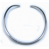 HPSilver: Sterling Silver Thick Round Collar (mos-cl-0003)